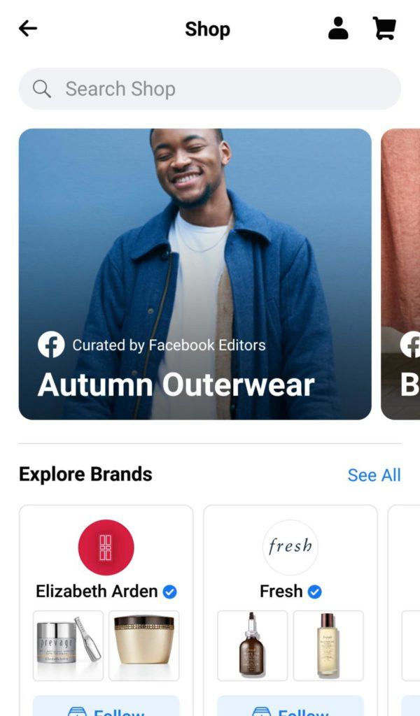 facebook shop screenshot